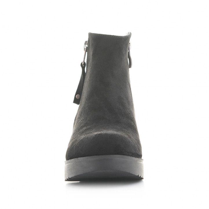 Botines QUETS! negros con cremalleras en los laterales - Querol online