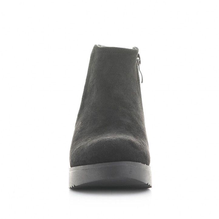 Botines QUETS! negros con elástico y cremallera en el lateral - Querol online