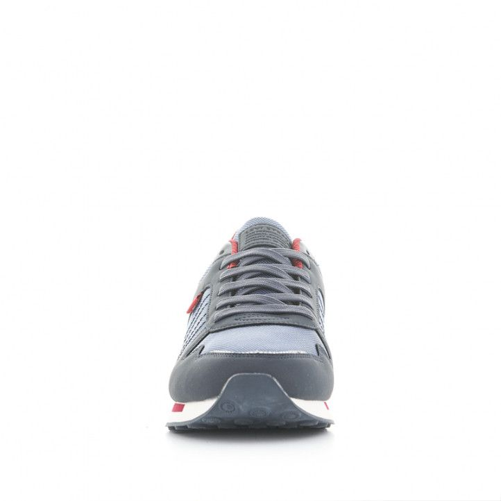 Zapatillas deportivas Levi's azules con suela blanca y detalles rojos - Querol online