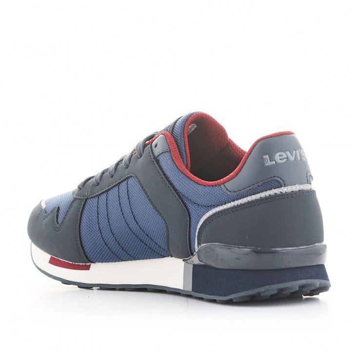 Sabatilles esportives Levi's blaves amb sola blanca i detalls vermells - Querol online