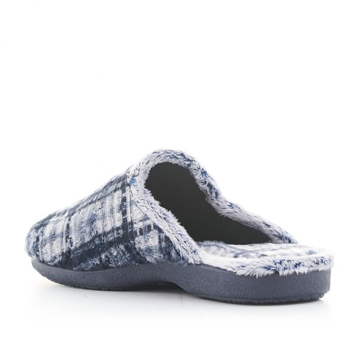 Sabatilles casa Garzon blaves i grises de quadres - Querol online