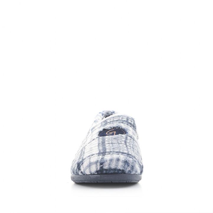 Sabatilles casa Garzon tancades blaves i grises de quadres - Querol online