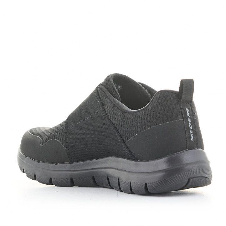 Zapatillas deportivas Skechers felx advantage negras con velcro - Querol online