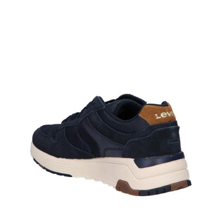 Zapatillas deportivas Levi's azules y con cordones - Querol online