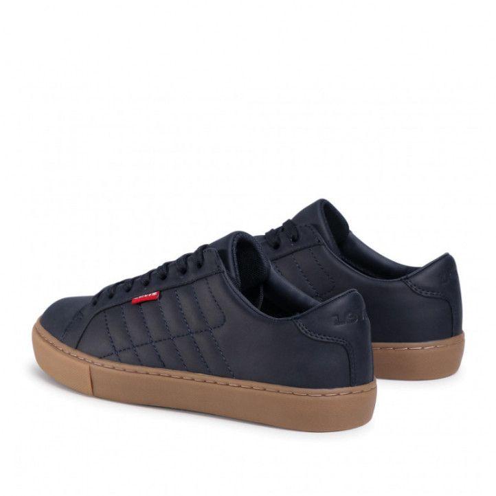 Zapatos sport Levi's azul marino con cordones - Querol online