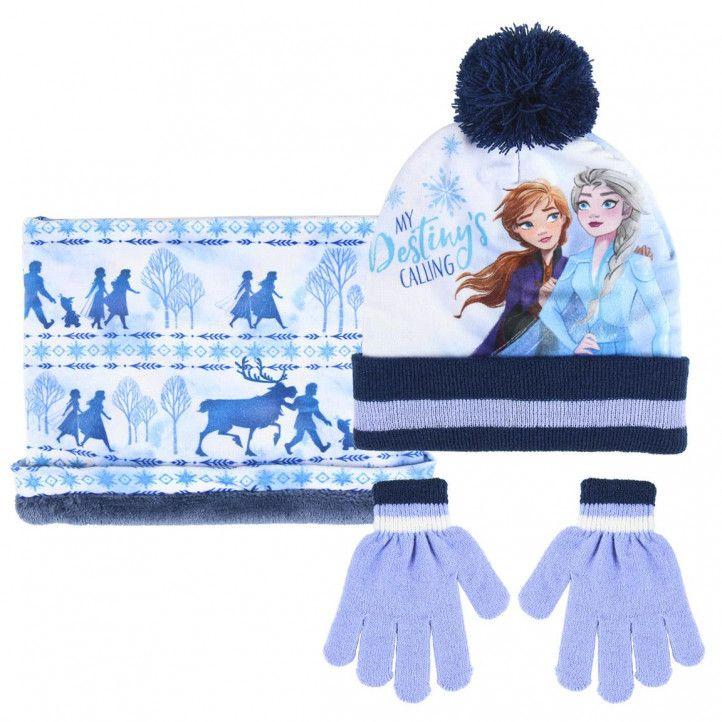 Complementos Cerda pack braga, guantes y gorro azul frozen - Querol online
