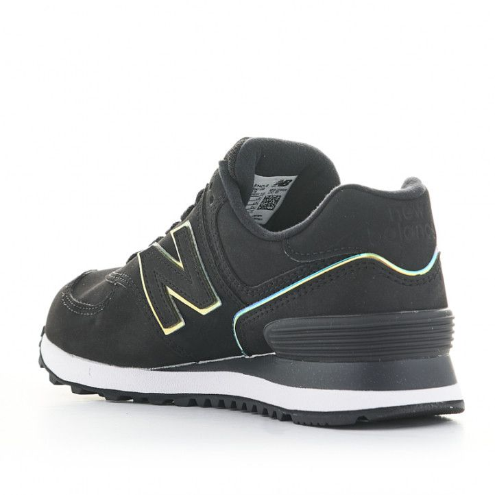 Zapatillas deportivas New Balance 574 negras con cordones - Querol online