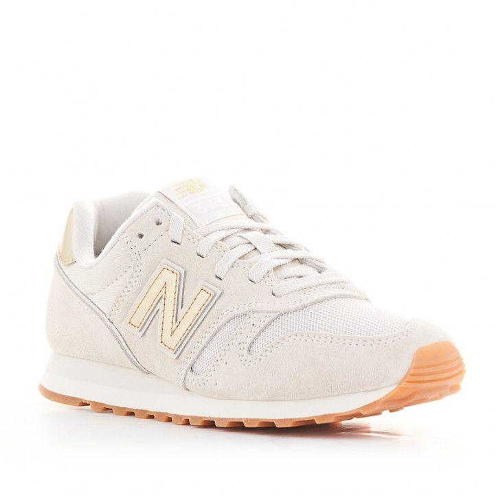 Zapatillas deportivas New Balance wl 373 marfil con cordones - Querol online
