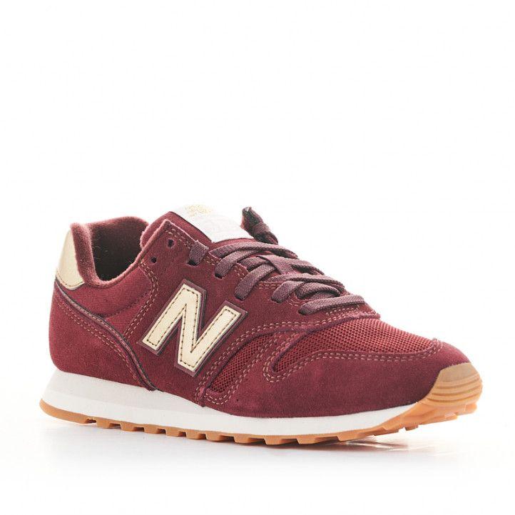 Zapatillas deportivas New Balance wl 373 burdeos con cordones - Querol online
