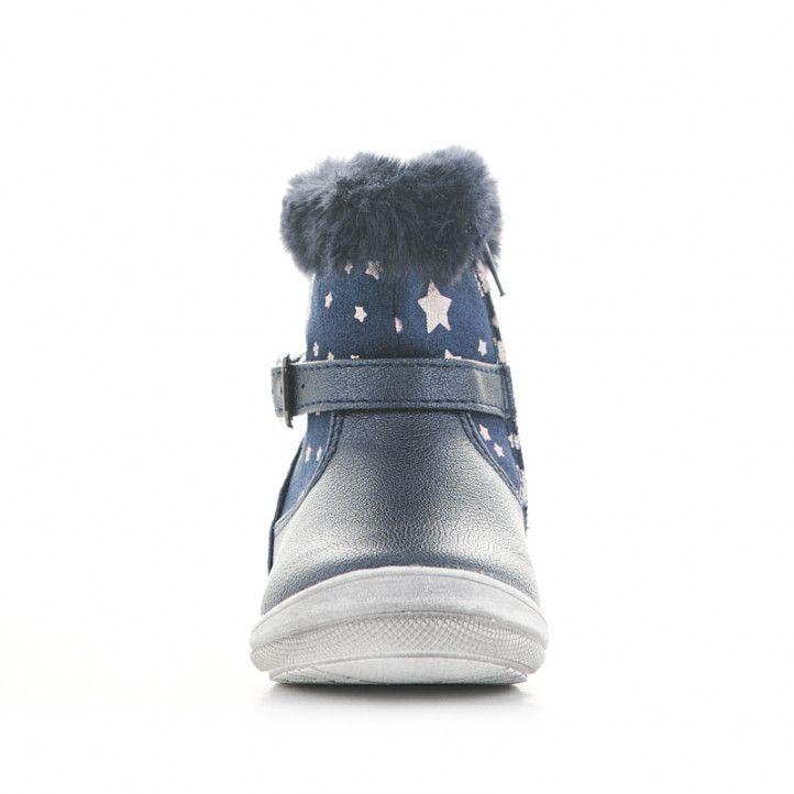 Botines CRECENDO azules con estrellas y pelo en la caña - Querol online