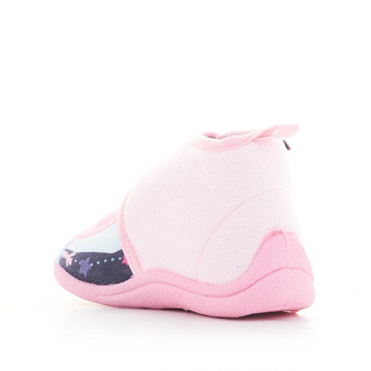 Zapatillas casa Cerda rosas cerradas con velcro de peppa pig - Querol online