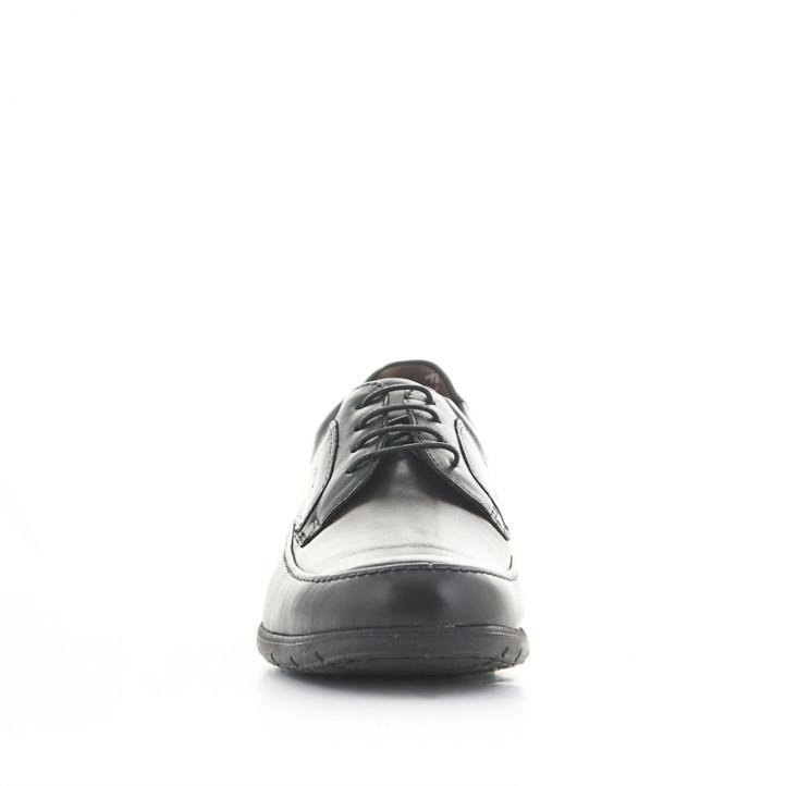 Zapatos vestir Fluchos negros de piel con cordones y plantillas extraíbles - Querol online