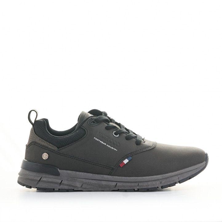 Zapatos sport Nicoboco negros con detalle de bandera francesa - Querol online