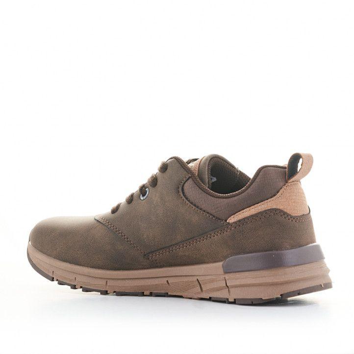 Zapatos sport Nicoboco marrones con detalle de bandera francesa - Querol online