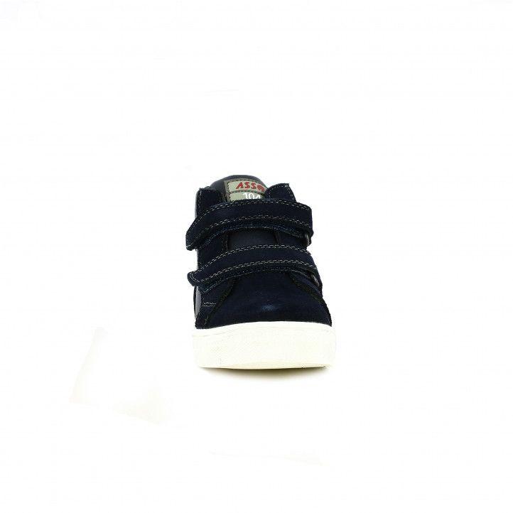 sabatilles lona ASSO de bota blavrd, grises i verdes - Querol online