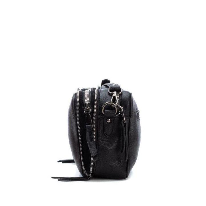 bosses Xti negre amb cremallera platejada - Querol online
