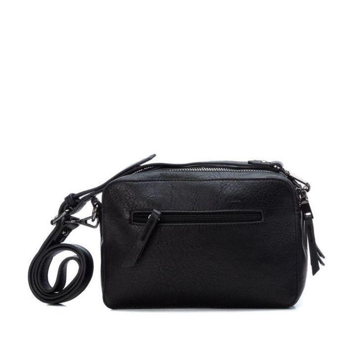 bolsos Xti negro con cremallera plateada - Querol online