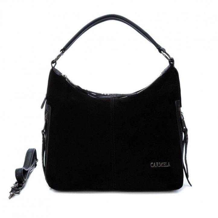 bolsos Carmela negro con cosido central - Querol online