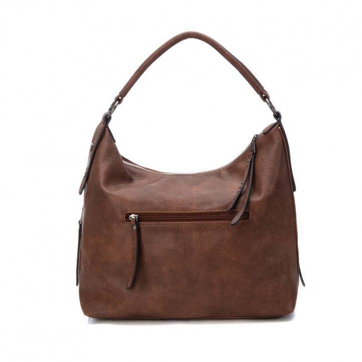 bolsos Carmela marrón con cosido central - Querol online