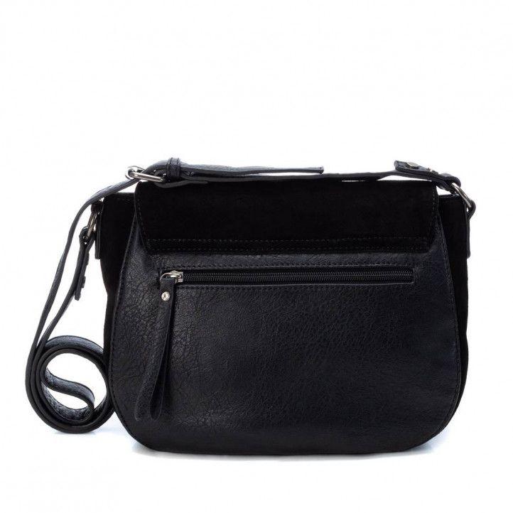 bolsos Carmela negro con detalle metálico - Querol online