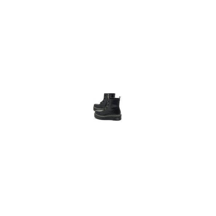 Botines plataforma Mustang con cierre de cremallera en la parte del empeine y adornos del ojales en pl - Querol online