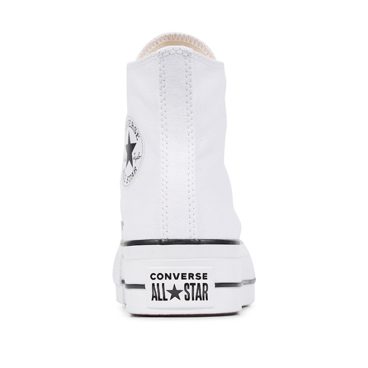 Zapatillas lona Converse blancas chuck taylor allstar lift high top - Querol online
