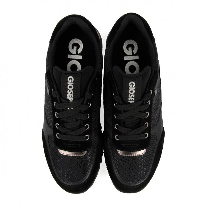 Sabatilles esportives Gioseppo negres amb tascó per a dona daruvar - Querol online