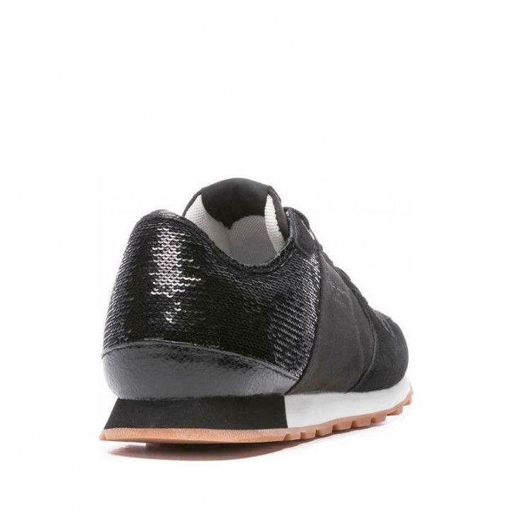 Zapatillas deportivas Pepe Jeans modelo verona negro - Querol online