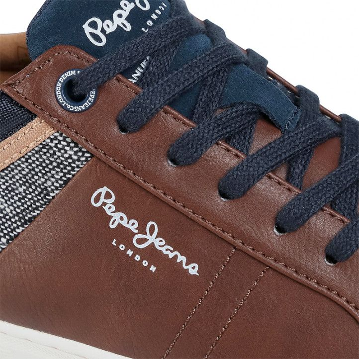 Zapatos sport Pepe Jeans marrón rodney basic - Querol online