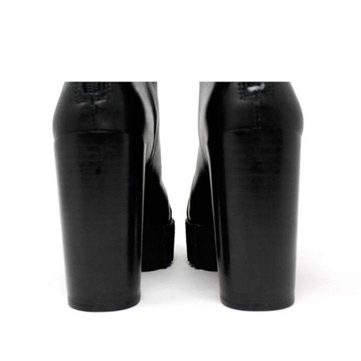 Botines tacón Alpe negros con tacón ancho y suela tubular - Querol online