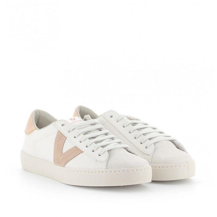 Zapatillas deportivas Victoria berlin con logo en rosa - Querol online