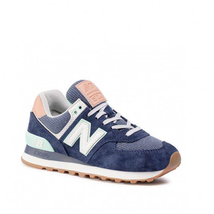 Zapatillas deportivas New Balance 574 natural indigo with faded mahogany - Querol online