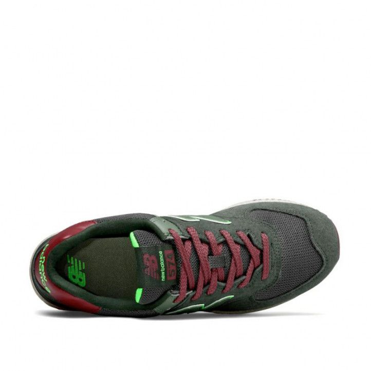 Sabatilles esportives New Balance 574 dark olive with energy lime - Querol online
