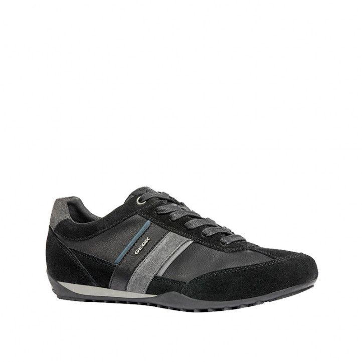 Zapatos sport Geox wells negro y azul denim oscuro - Querol online