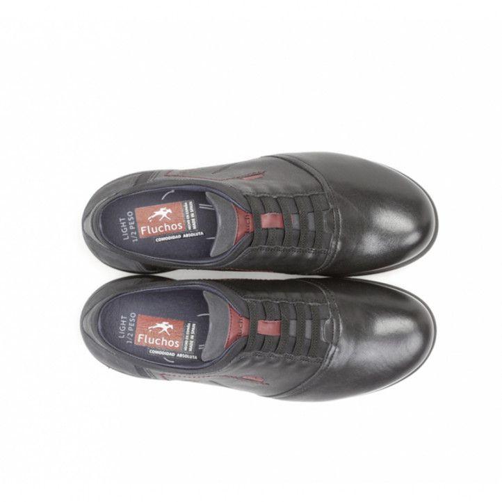 Sabates sport Fluchos nolan butero negra sabata light - Querol online