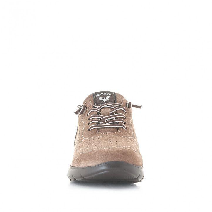 Zapatos sport Be Cool marrón con detalle de estrella - Querol online
