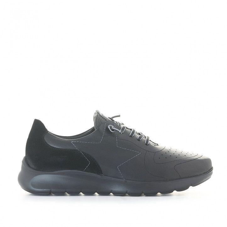 Zapatos sport Be Cool negro con detalle de estrella - Querol online