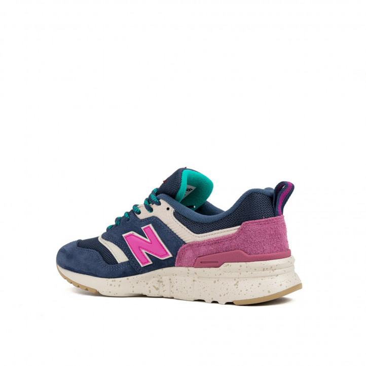 Zapatillas deportivas New Balance 997 azules y rosas - Querol online