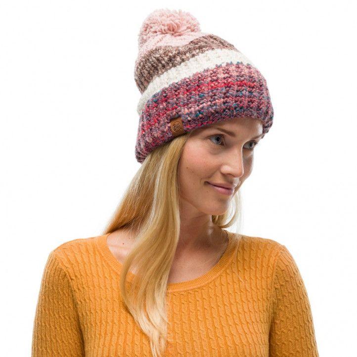 Complementos Buff gorro tricot y polar alina blossom red - Querol online