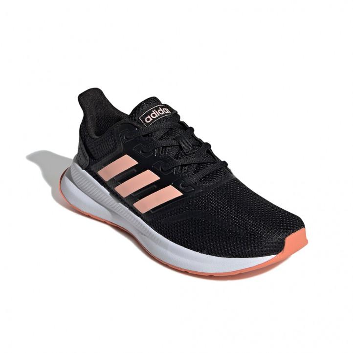 Zapatillas deportivas Adidas runfalcon negras, blancas y rosas - Querol online