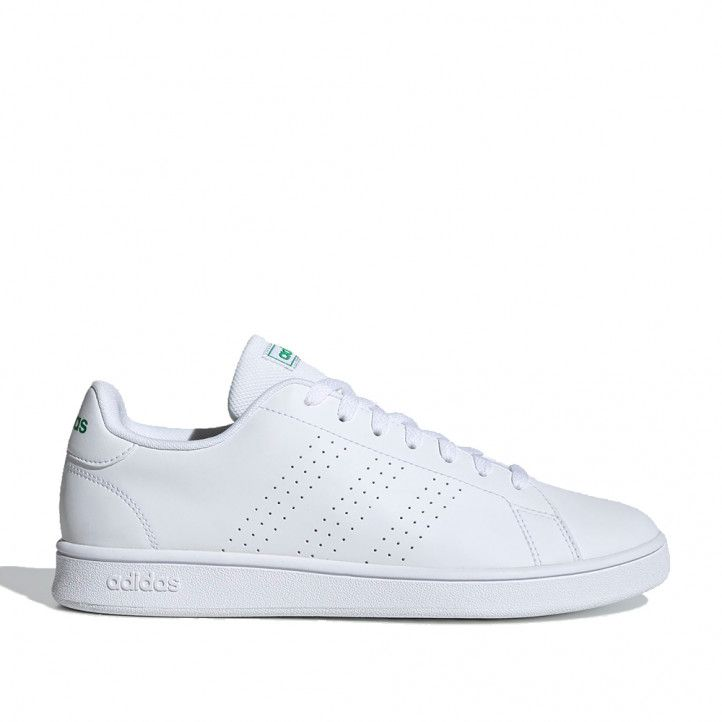 Sabatilles esportives Adidas blanques 3 bandes perforades advantage base - Querol online