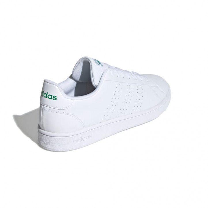 Zapatillas deportivas Adidas blancas 3 bandas perforadas advantage base - Querol online