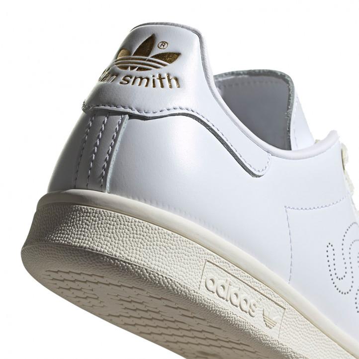 Sabatilles esportives Adidas stan smith blanques amb detalls daurats - Querol online