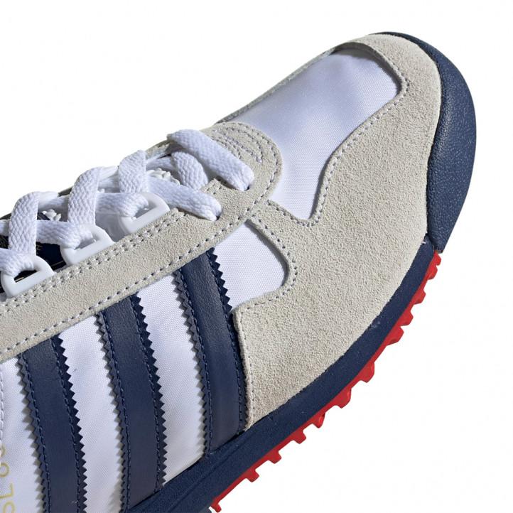 Zapatillas deportivas Adidas blancas con detalles en azul - Querol online