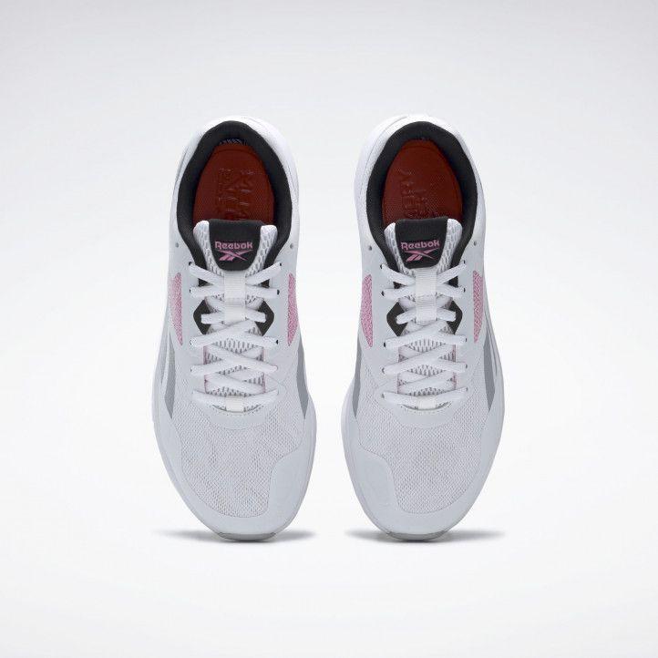 Zapatillas deportivas Reebok blancas con detalles en gris y rosa runner 4.0 - Querol online