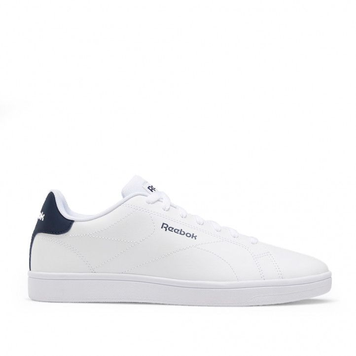 Zapatillas lona Reebok ROYAL COMPLE WHITE con talón azul - Querol online