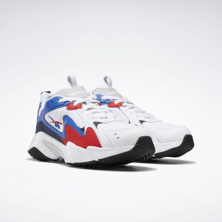 Zapatillas deportivas Reebok blancas con azul y rojo royal turbo impulse - Querol online