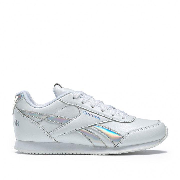 Zapatillas deportivas Reebok blancas con franjas metalizadas royal classic jogger - Querol online