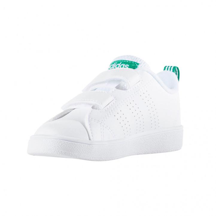 Zapatillas deporte Adidas advantage blancas y verdes - Querol online