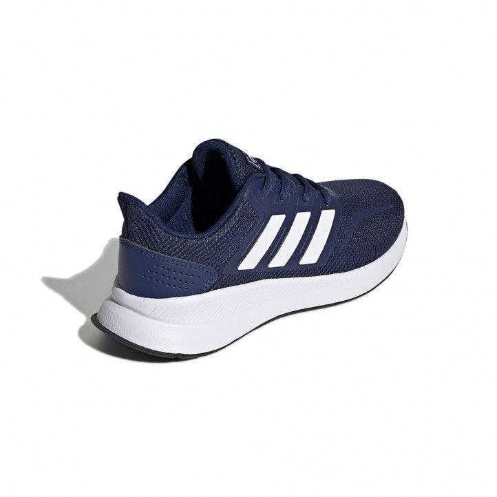 Sabatilles esport Adidas blaves amb cordons runfalcon - Querol online